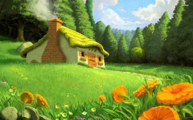Дом дяди представлял собой добротное, каменное сооружение с множеством комнат