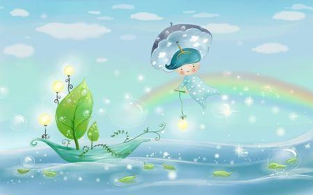 на рассвете на небо вышла дождевая тучка