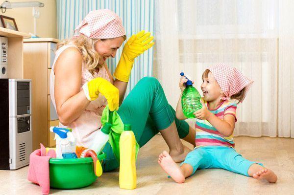 уборка в детской