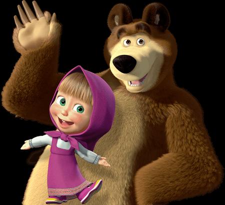 Маша и медведь – сериал с обилием персонажей