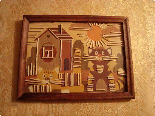 Картины из спичек для детей