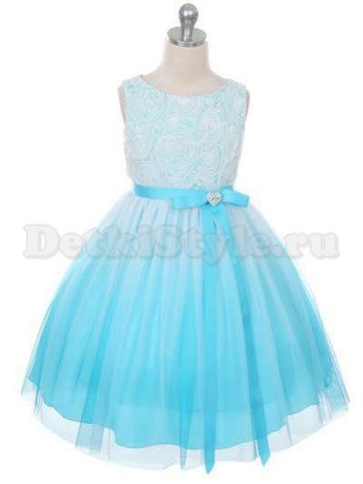 детское голубое платье